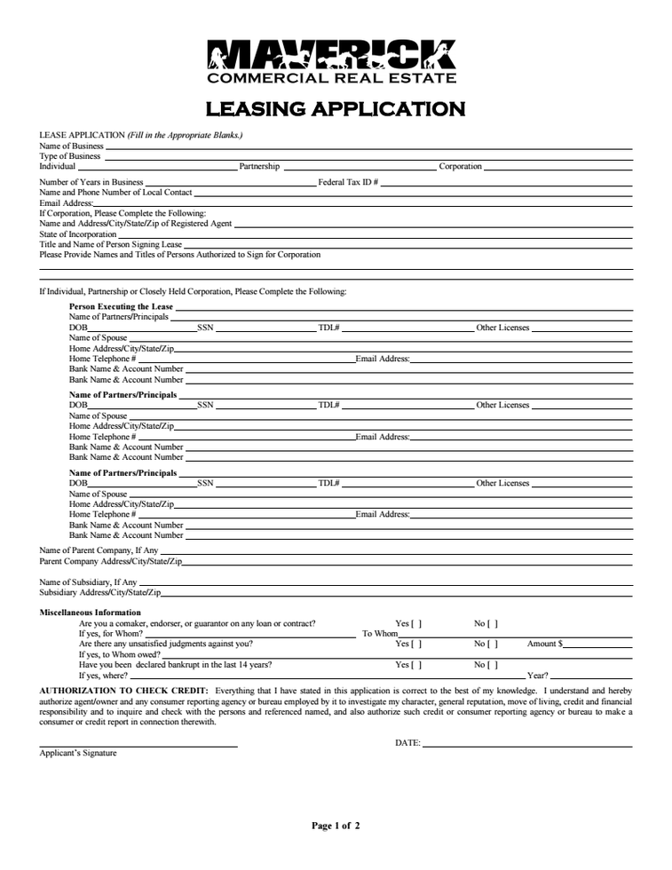 Leasing Application